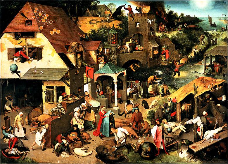 Die Niederl 228 Ndischen Sprichw 246 Rter Von Pieter Bruegel D 196